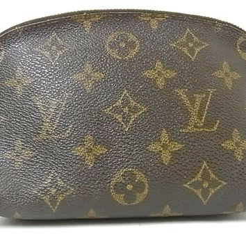 Authentic Louis Vuitton Monogram Pochette Cosmetic Pouch Clutch Handbag Purse