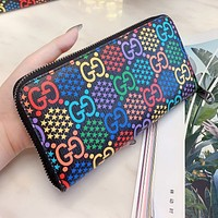 GUCCI High Quality Popular Women Men Zipper Wallet Purse