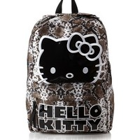Hello Kitty Sublimation Snake Brown and White Backpack 16""