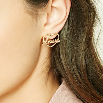 Love Cutout Stud Earrings
