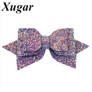 "3""/5'' Boutique Bowknot Princess Hairgrips Glitter Hair Bows with Clip Dance Party Bow Hair Clip Girls Women Hair Accessories"