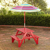 Kids Picnic Table & Umbrella | Outdoor and Patio Furniture| Furniture | World Market
