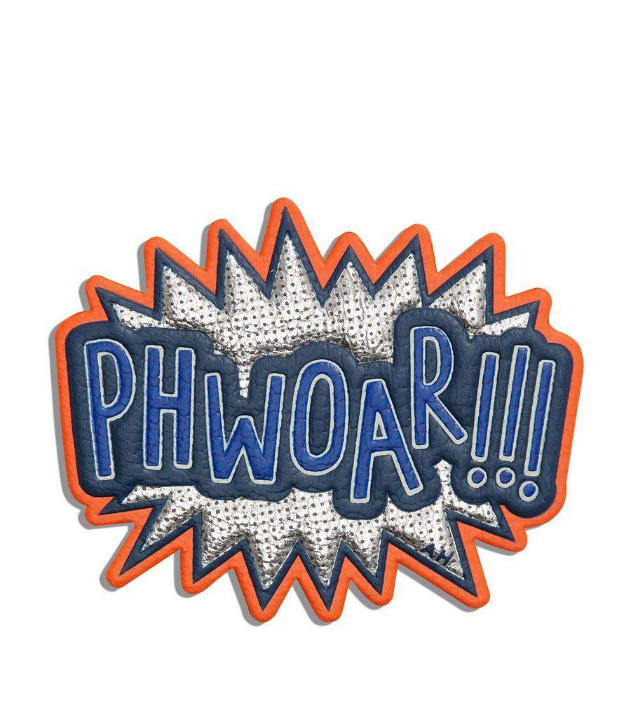 Anya Hindmarch Phwoar Leather Sticker from Harrods It
