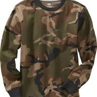 Old Navy Boys Camo Top