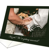 Medieval Wedding Invitation with Holding Hands in Costume card
