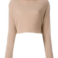 Valentino Cropped Ribbed Jumper - Farfetch