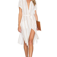 L'Academie The Shirt Dress in Stripe