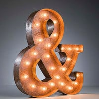 Vintage Marquee Lights - Ampersand & sign