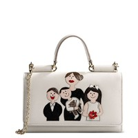 Dolce & Gabbana Mini Lipstick Patch Family Bag - Ivory Leather Shoulder Bag