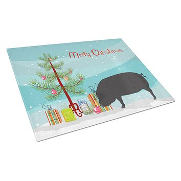 Devon Large Black Pig Christmas Glass Cutting Board Large BB9298LCB