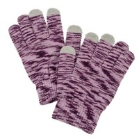 Texting Gloves Knit Hombre Purple | Affordable Costume Jewelry, Gloves | Purple Box Jewelry