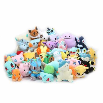 11-18cm eevee Plush Toys Squirtle Bulbasaur snorlax Jigglypuff Dragonite Charmander Lapras Lugia Clefairy stuffed plush Dolls