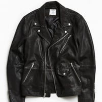 UO Beatdown Leather Moto Jacket | Urban Outfitters