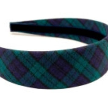 Campbell Tartan Headband in Green by High Cotton