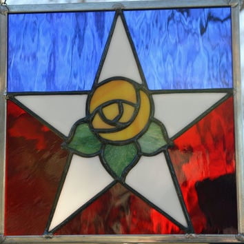 Yellow Rose of Texas - Stained Glass Suncatcher (no vine)