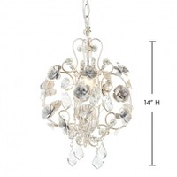 Wake Up Frankie - Petite Antique White Rose Beaded Chandelier : Teen Bedding, Pink Bedding, Dorm Bedding, Teen Comforters