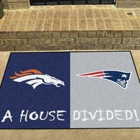 House Divided - Broncos / Steelers House Divided Mat