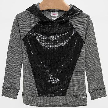 Women's Girls - Sequin Sweatshirt in Black/Grey by Daytrip.