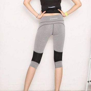 ac VLXC Korean Yoga Stretch Shorts Gym Women's Fashion Capri [10195810956]