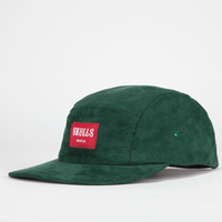 Skulls Suede Mens 5 Panel Hat Green One Size For Men 22791950001