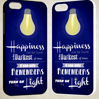 Harry Potter Happiness Quote F0446 iPhone 4S 5S 5C 6 6Plus, iPod 4 5, LG G2 G3, Sony Z2 Case