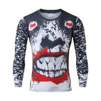 Joker inspired Men's Long Sleeve Compression Shirts