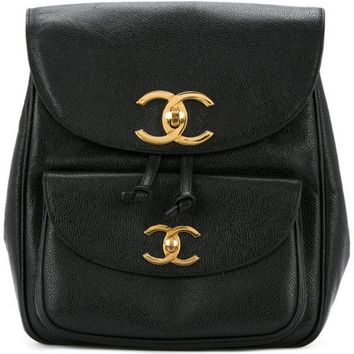 DCCKIN3 Chanel Vintage CC Chain Backpack
