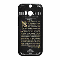 Game Of Thrones Nights Watch HTC One M8 Case