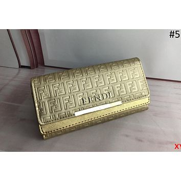 Fendi 2018 new fashion personality women's wallet women's wallet #5