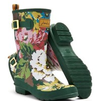 Green Cambridge Floral Mollywelly Womens Mid-Calf Welly | Joules US