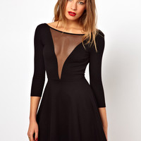 American Apparel Gloria V Skater Dress With Scoop Back