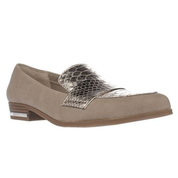 B35 Involve Pointed Toe Cross Strap Loafers, Portico, 7 US