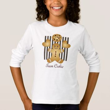 Cute Team Cookie Cartoon Stripes Personalized T-Shirt