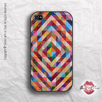 Colorful Patchwork Quilt - iPhone 4 Case, iPhone 4s Case and iPhone 5 case, Samsung Galaxy
