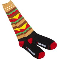 Loungefly I Heart Burgers Socks (Brown/Multi)