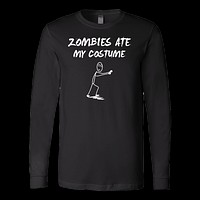 Halloween - Zombie Ate My Costume - Men Long Sleeve T Shirt - TL00806LS