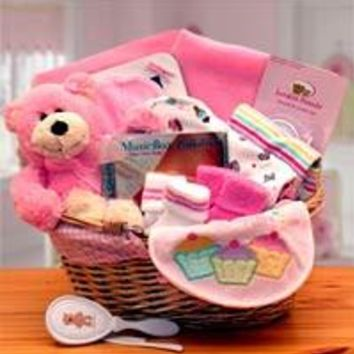 Simply Baby Basics New Baby Girl Gift Basket - Pink