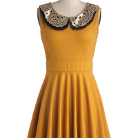 Two Happy Hearts Dress in Goldenrod | Mod Retro Vintage Dresses | ModCloth.com