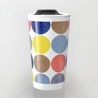 Round and Round Travel Mug by Miss L In Art