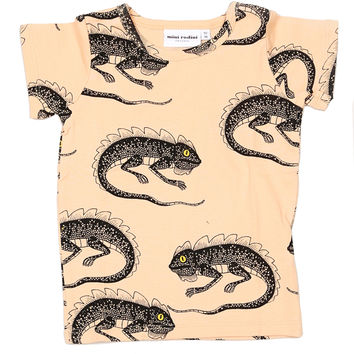 Mini Rodini Lizard Tee - Pink - FINAL SALE