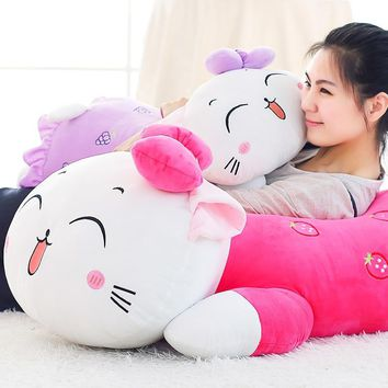 35CM  Super cute Hello Kitty plush toys hug pillow fruit KT cat stuffed dolls for girls kids toys gift mini animal plush doll
