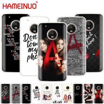 HAMEINUO Pretty Little Liars PLL on sale case phone cover For Motorola Moto X4 E4 C G6 G5 G5S G4 Z2 Z3 PLAY PLUS