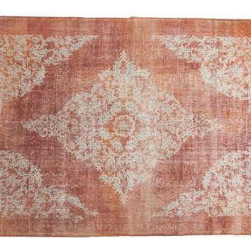 7x10 Vintage Distressed Oushak Carpet