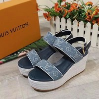 LV Women Men Casual Shoes Boots casual leather Women Heels Sandal Shoes