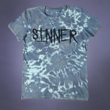 Punk Shirt Sinner Slogan Tee Evil Satanic Grunge Alternative Clothing Goth Tumblr T-shirt
