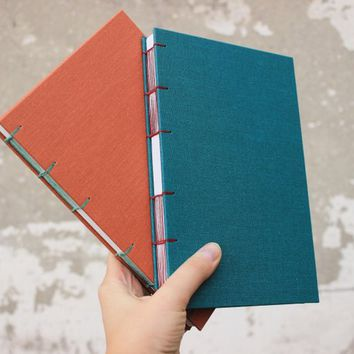 Custom Sketchbook · Custom Notebook · Cloth Journal · Watercolor Journal · Personalized Art Journal · Large Sketchbook