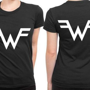 Weezer Logo Classic 2 Sided Womens T Shirt