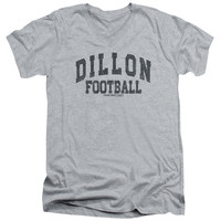 FRIDAY NIGHT LIGHTS/DILLION ARCH - S/S ADULT V-NECK 30/1 - HEATHER- LG - Athletic Heather -