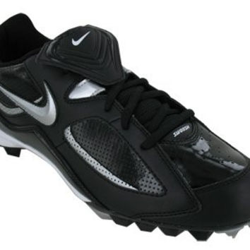 Nike Men's NIKE SLASHER BASEBALL CLEATS 13 (BLACK/METALLIC SILVER)