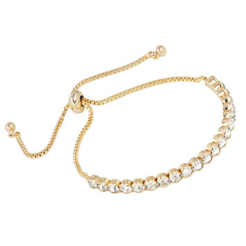 New Simple Design Gold Crystal Bracelets Charms Gold Chain Bracelet Charm Bracelets for Women Femme Fashion Jewelry gift brtk04